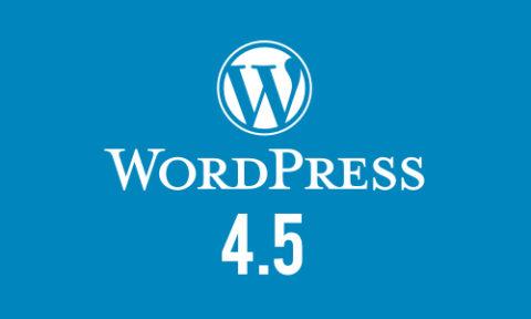 Wordpress 4.5 Release