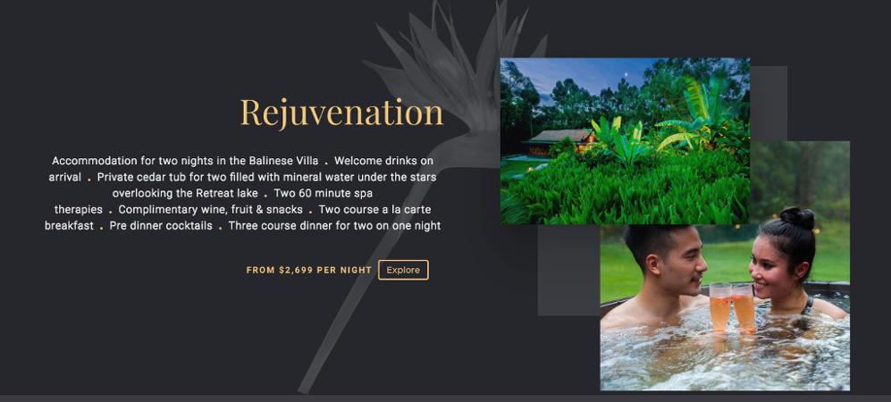 Balinese Retreat Website Design